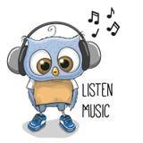Bande dessinée mignonne Owl Boy Image libre de droits