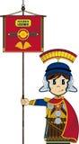 Bande dessinée mignonne Roman Soldier Images libres de droits