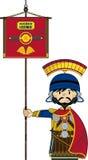 Bande dessinée mignonne Roman Soldier Image stock