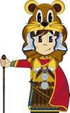 Bande dessinée mignonne Roman Soldier Image libre de droits