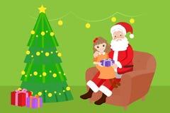 Bande dessinée mignonne Santa Photos stock