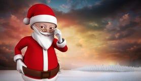 Bande dessinée mignonne Santa Claus Photo libre de droits