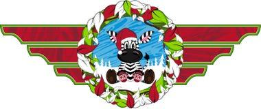 Bande dessinée mignonne Santa Hat Zebra Images stock
