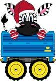 Bande dessinée mignonne Santa Hat Zebra Photo stock