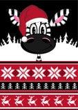 Bande dessinée mignonne Santa Hat Zebra Image stock
