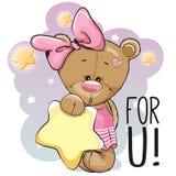 Bande dessinée mignonne Teddy Bear Girl Image libre de droits