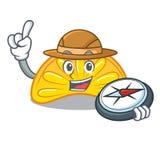Bande dessinée orange de mascotte de sucrerie de gelée d'explorateur illustration de vecteur