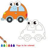 Bande dessinée orange de voiture Page à colorer illustration stock