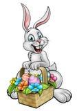 Bande dessinée Pâques Bunny Egg Hunt Photographie stock