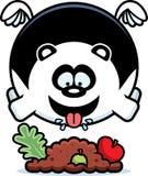 Bande dessinée Panda Eating illustration de vecteur
