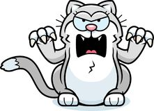 Bande dessinée petite Cat Angry illustration libre de droits
