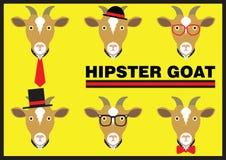 Bande dessinée plate de chèvre de hippie Photo stock