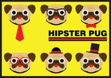 Bande dessinée plate de roquet de hippie Photos libres de droits