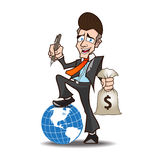 Bande dessinée puissante d'homme d'affaires Image libre de droits