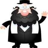 Bande dessinée Rabbin Waving Photo stock