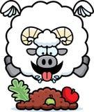 Bande dessinée Ram Eating illustration de vecteur