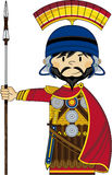 Bande dessinée Roman Soldier avec la lance Photo libre de droits
