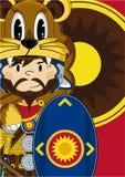 Bande dessinée Roman Soldier avec le bouclier Photographie stock libre de droits