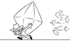 Bande dessinée rouge énorme de vol de siècle illustration stock