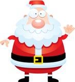 Bande dessinée Santa Claus Waving Photographie stock