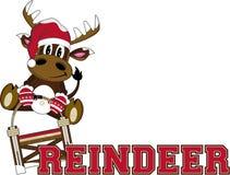 Bande dessinée Santa Hat Reindeer Photographie stock libre de droits