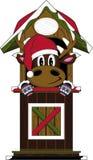 Bande dessinée Santa Hat Reindeer Image libre de droits