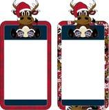 Bande dessinée Santa Hat Reindeer Photo stock