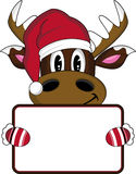 Bande dessinée Santa Hat Reindeer Images stock