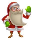 Bande dessinée Santa Waving Photos libres de droits