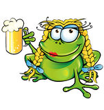 Bande dessinée sexy de grenouille de fille Photos libres de droits