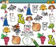 Bande dessinée simple de jeu de photo de découverte illustration stock