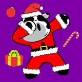 Bande dessinée tamponnante de costume de Noël Claus de vache à pose de limande illustration libre de droits