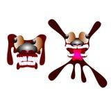Bande dessinée Toothy de chien Photo stock