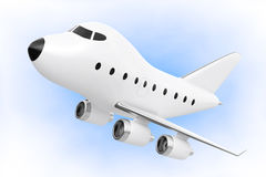 Bande dessinée Toy Jet Airplane rendu 3d Illustration Stock