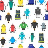 Bande dessinée Toy Robots Background Pattern mignon Vecteur illustration de vecteur
