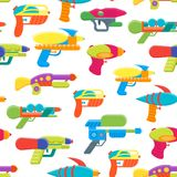 Bande dessinée Toy Water Guns Background Pattern Vecteur illustration de vecteur