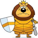 Bande dessinée triste Lion King Armor illustration de vecteur