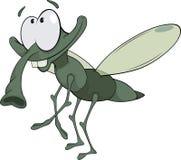 Bande dessinée verte d'insecte illustration libre de droits