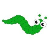 Bande dessinée verte de Caterpillar illustration stock