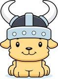 Bande dessinée Viking Puppy de sourire Images libres de droits