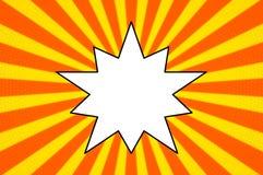 Bande dessin?e contre le fond de calibre, style classique de bruit-art, introduction de bataille de super h?ros, impression tram? illustration stock