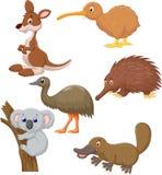 Bande dessinée animale australienne Photos libres de droits