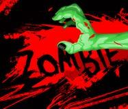 Bande dessinée d'une main de zombi Images libres de droits