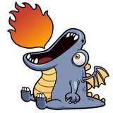 Bande dessinée de dragon Images libres de droits