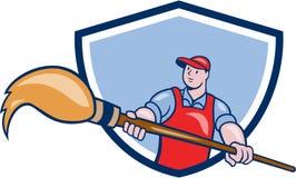Bande dessinée de Giant Paintbrush Crest de peintre d'artiste Photos stock
