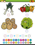 Bande dessinée mathématique de tâche Images stock