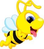 Bande dessinée mignonne d'abeille Photo stock