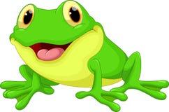 Bande dessinée mignonne de grenouille Photo libre de droits