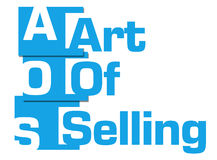 Bande di Art Of Selling Blue Abstract illustrazione di stock