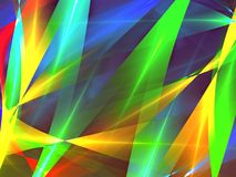 Bande di caos - immagine digitalmente generata dell'estratto illustrazione di stock